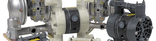 Yamada Air Powered Double Diaphragm Pumps