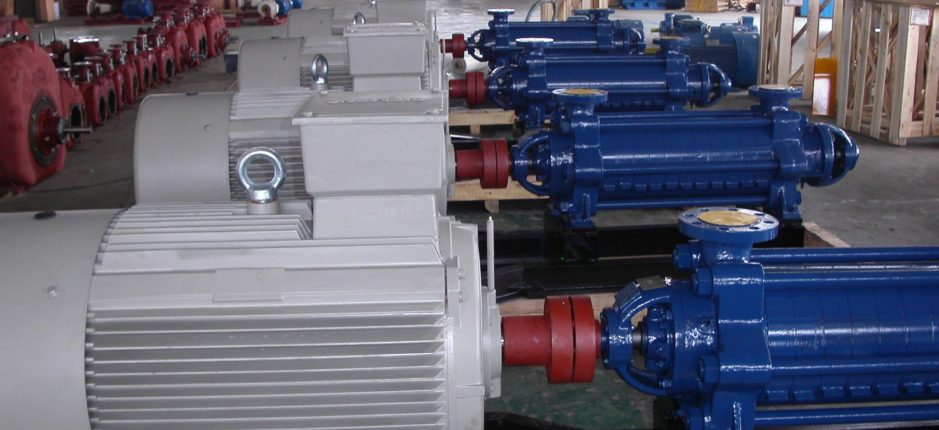 Image of pumps in a factory
