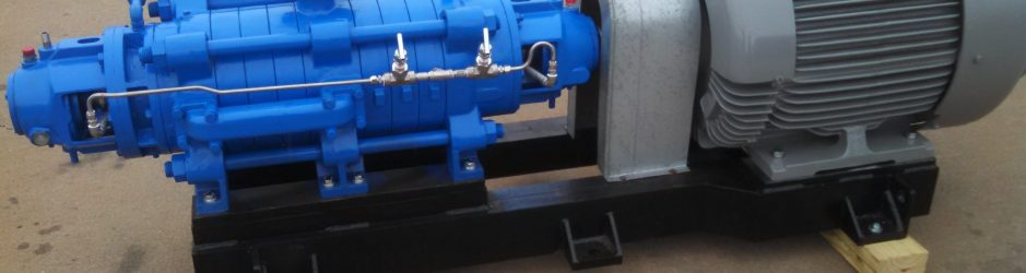 Assembled pump outside